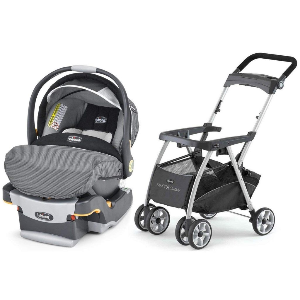 You can snap some travel car seat into a base on a stroller