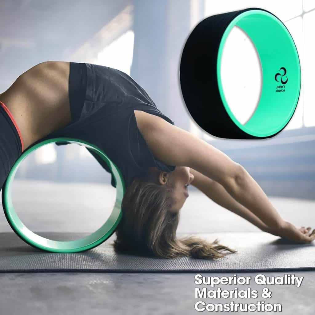 Pete's choice Dharma Yoga Wheel with Bonus eBook & Free Yoga Strap-3