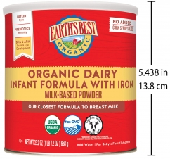 Earth's Best Organic Dairy Infant Powder Formula