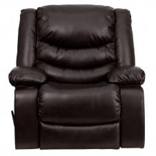 Flash Furniture Plush Brown Leather Rocker Recliner