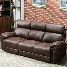 JULFOX Recliner Couch Sofa Retro Brown