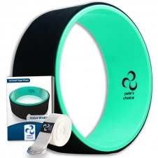 Pete's choice Dharma Yoga Wheel with Bonus eBook & Free Yoga Strap